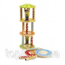 Деревянная игрушка головоломка Hape - Балансир Crazy Tower (897660)