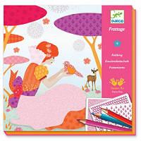 Художественный набор для рисования карандашами Djeco - Красивые Платья DJ08985
