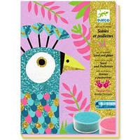 Художественный комплект рисование цветным песком Djeco - Ослепительные Птицы DJ08663