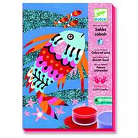 Художественный комплект рисование цветным песком Djeco - Радужные Рыбки DJ08661