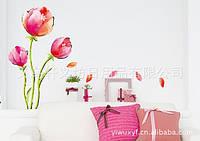 Дизайнерская наклейка Тюльпаны