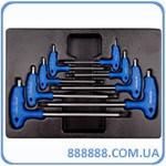 Набор L-обр ключей TORX 1163R 8 пр Т10-Т50 9-22308PR King Tony
