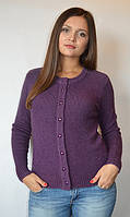 Кофта женская из ангоры с пуговичками фиолетовая, 44-50 р-ры