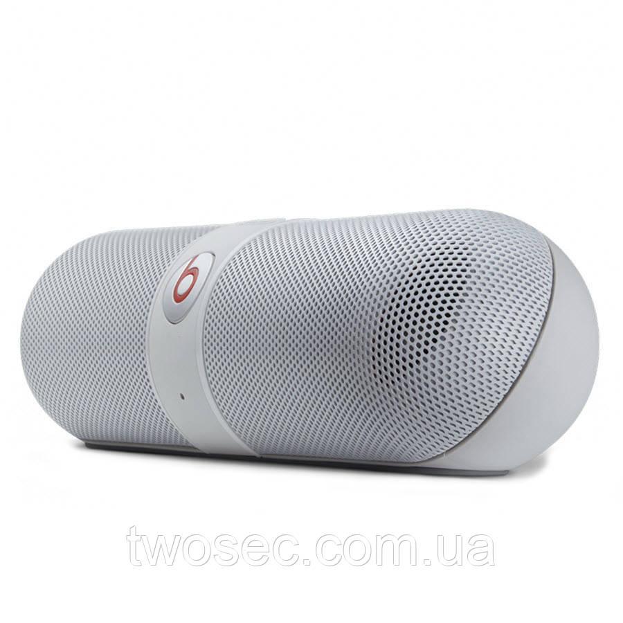 Портативная Bluetooth колонка в стиле Beats Pill белая
