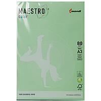 Бумага Маэстро цветная А3 г/м² 80 пастель зеленый