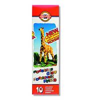 Koh-i-Noor Пластилин 10 цветов 200 грамм в картонной коробке Чехия 131504 масса для лепки доставка по Украине