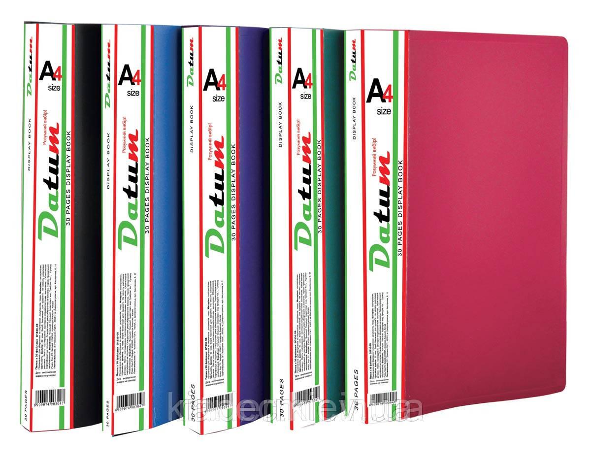 Папка с 40 файлами A4 D1840-08 т.зеленая 490306 Datum