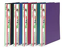 Папка с боковым зажимом и карманом A4 D1804-12 фиолетовая
