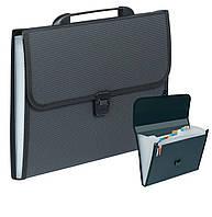 Папка-портфель  A4 12 отд. D1935 черная
