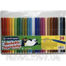 Фломастеры набор 24 цвета Centropen чехия 7790/24 7790-24 Centropen