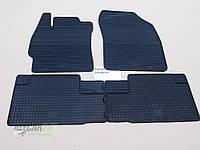 Резиновые ковры в салон Toyota Corolla 07-/13- (LUX) кт-4 шт.