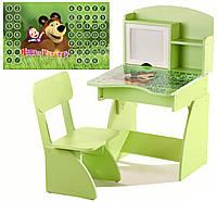 Детская Парта растущая + стульчик, Маша и Медведь