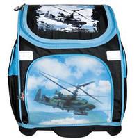 """Ранец (рюкзак) ортопедический """" JO"""" Вертолёт твёрдое дно FY-31 для мальчика"""