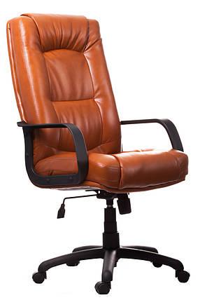 Кресло Альберто Пластик механизм Tilt кожзаменитель Титан Коньяк (Richman ТМ), фото 2