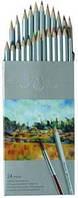 Карандаши цветные Marco Raffine 24 цвета акварельные с кисточкой 7120-24CB