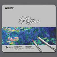 Карандаши Marco Raffine в металлическом пенале, 24 цвета (7100-24TN)