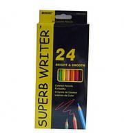 4100-24CB Набор цветных карандашей 24 цветов серия Superb Writer Marco