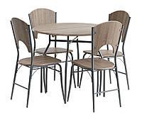 Комплект кухонный (стол круглый + 4 стула)