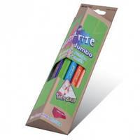 """Карандаши цветные 12 цветов MARCO 9400-12CB """"Jumbo""""+точилка, Grip-Rite, треугольные"""