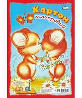 Картон цветной  «Gold Brisk» Ф-А4, 7 цветов + ЗОЛОТО + СЕРЕБРО