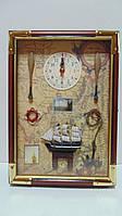 Ключница настенная деревянная «Морские приключения» размер 35*25*7
