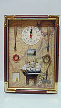 Ключниця настінна дерев'яна «Морські пригоди» розмір 35*25*7