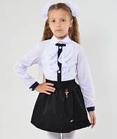 Школьная блузка для девочки Жабо