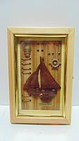 Ключница настенная деревянная «Мечта моряка» размер 30*20*6.5