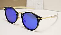 Женские солнцезащитные очки Dior 123 синяя линза, фото 1