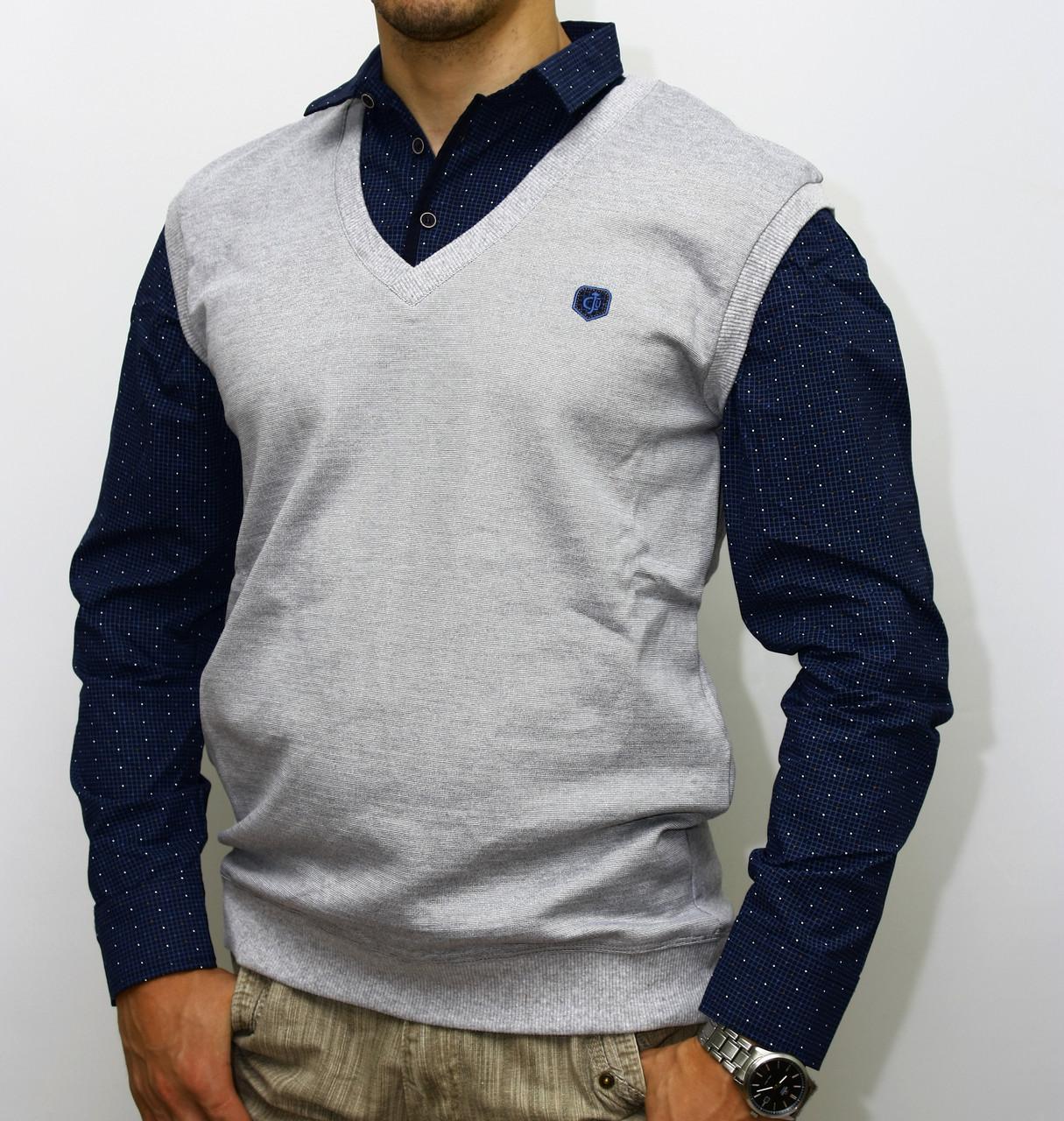 Турецкая мужская кофта-обманка