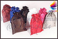 Подарочные мешочки из атласа, креп-сатина (под заказ от 100-500 шт.)