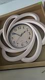 Часы большие настенные,бежевые с золотистой затертостью, фото 2
