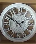 Часы белые с затертостью,настенные, фото 2