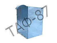 Туалет металлический на 2 кабинки 2,5х1,2х2,0м