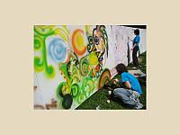 Стена граффити.Аренда.