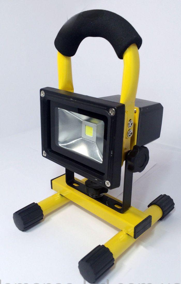 Прожектор LED аккум. 10w 6500K IP65 850LM LEMANSO жёлтый / LMP8-10