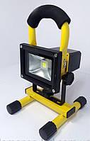 Прожектор LED аккум. 10w 6500K IP65 850LM LEMANSO жёлтый / LMP8-10, фото 1