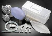 Аппарат искусственной вентиляции легких ИВЛ с ручним управлением c аксесуарами многоразовый (силикон)