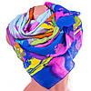 Привлекательный женский шарф из полиэстера 137 на 100 см ASHMA (АШМА) DS41-317-3 разноцветный