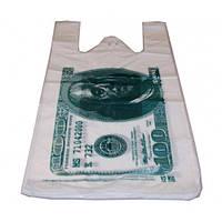 Пакет майка Доллар 260(70х2)*450,20 мкм 2500 шт