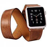 Ремешок для Apple Watch Classic Genuine Leather Quadri-Watchband Series-38mm коричневый
