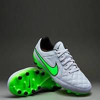 Бутсы футбольные детские Nike  Tiempo Genio Leather FG Jr