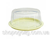 Тортовница круглая Smart, прозрачная 33,5 x 14,5 см ТМ Bager