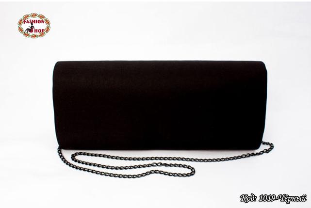 Вышитый чёрный клатч Подсолнухи, фото 2