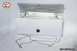 Вышитый белый клатч Подсолнух, фото 3