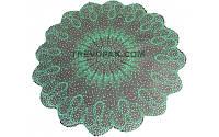 """Салфетки для цветов """"Снежинка зеленый"""" (уп.100шт)40см"""