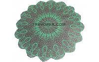 """Салфетки для цветов """"Снежинка зеленый"""" (уп.100шт)50см"""