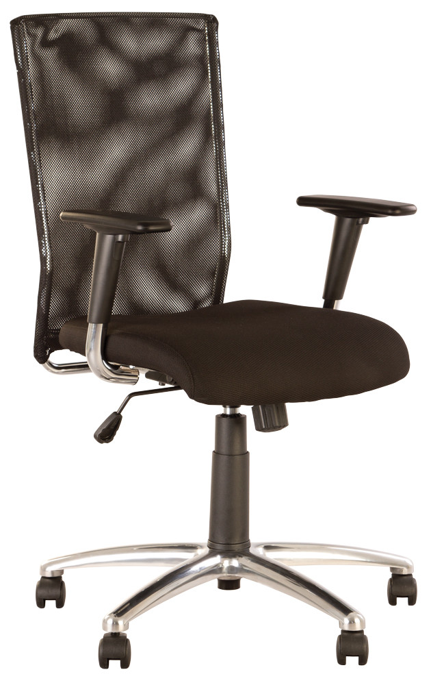 Кресло офисное Evolution R механизм SL крестовина AL68 спинка сетка OH-5, ткань ZT-25 (Новый Стиль ТМ)