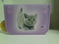 "Пенал ""Lovely Kitties"" 1 молн. +2 клап. без наполнения"