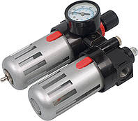 Фильтр воздушный с редуктором, со смаз.прибором и манометром 1/2'